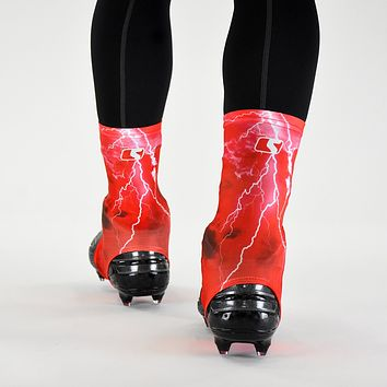 Red Lightning Spats / Cleat Covers
