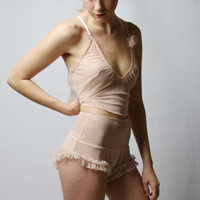 high waisted bloomer panties with ruffled leghole - ROMANTIC lingerie range - made to order
