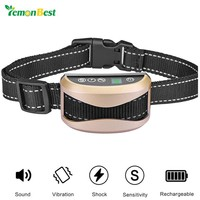 LemonBest Anti Bark Collar No Barking Training Electric Shock Vibration Puppy Pet Dog Training Collar Belt With 7 Levels Shock
