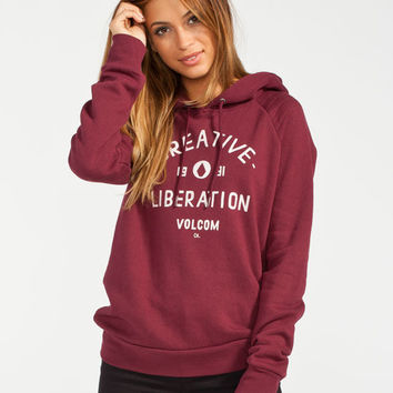 Volcom Corpbro Womens Hoodie Burgundy In from Tilly's