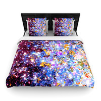 "Ebi Emporium ""Midnight Serenade"" Blue Purple Woven Duvet Cover"