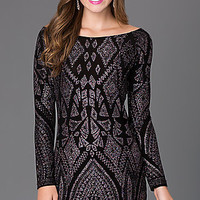 Short Long Sleeve Party Dress 48127