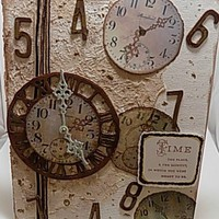 Time, The Place….Mixed Media Canvas Board. Listed and Ready to Ship