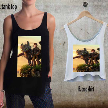 How To Train Your Dragon For Woman Tank Top , Man Tank Top / Crop Shirt, Sexy Shirt,Cropped Shirt,Crop Tshirt Women,Crop Shirt Women S, M, L, XL, 2XL**