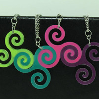 Linking pendants 4 piece set Best friend jewelry Pick your colors