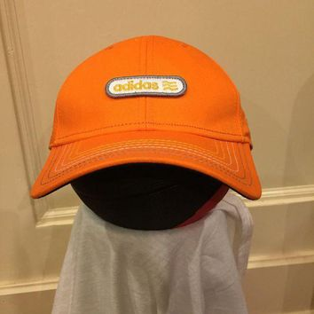 Adidas Hat Snapback One Size Fits All Classic Baseball Cap Orange Grey
