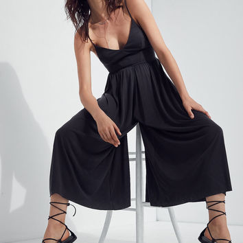 Silence + Noise Molly Cupro Culotte Jumpsuit | Urban Outfitters