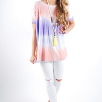 Piko Top Short Sleeve Tie Dye