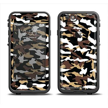 The Green-Tan & White Traditional Camouflage Apple iPhone 6/6s LifeProof Fre Case Skin Set