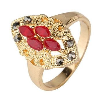 womens fashion casual jewelry unique best gift new hot women vintage retro old gold ring rings 28 2