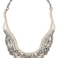 Valentino | Swarovski crystal and pearl bib necklace | NET-A-PORTER.COM