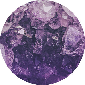 Amethyst Gem Circle Wall Decal