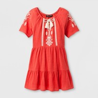 Girls' Stella & Sienna A Line Dress with Tassel - Red