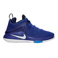 Nike Men's Lebron James Zoom Witness Game Royal White Basketball Shoes  nike lebron witness 2