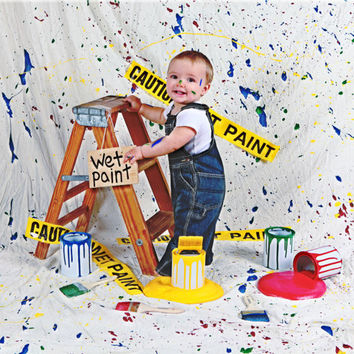 Spilled Paint Set   Photography Photo Prop