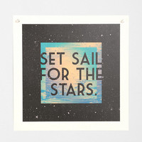 Penabranca Set Sail For The Stars Art Print - Urban Outfitters