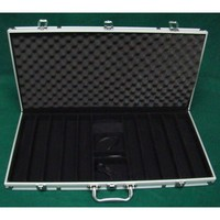 Aluminum Poker Chip Case - Holds 750 Pieces