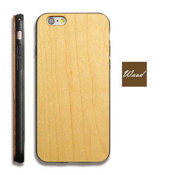 Vintage TPU Wood Phone Case iPhone Wooden Pattern Luxury Phone Case  iPhone 6/6s/6Plus/6sPlus [8590841223]