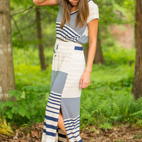 So Relaxing Maxi Dress, Navy-Tan
