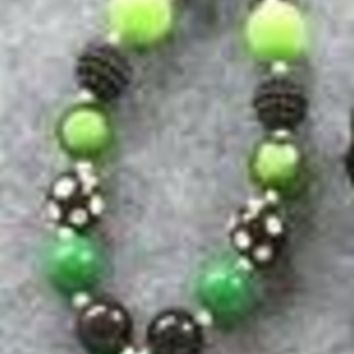 St. Patrick's Day Shamrock Chunky Necklace