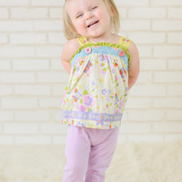 Ruffle Pants Solid Lavender Purple