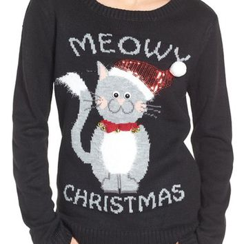 Love By Design Meowy Christmas Sweater | Nordstrom
