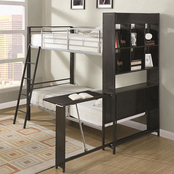 Fusion Twin over Twin Bookcase Bunk Beds