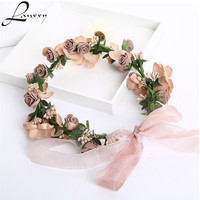 Lanxxy Hot Sale New 2016 Fashion Wedding Hair Accessories Wreath Tiaras Flower Headband Women Crown Bridal Hairbands