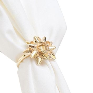 Gift Bow Napkin Rings (Set of 4)