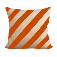 Burnt Orange Stripes