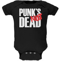 Punk's NOT Dead V3 Black Soft Baby One Piece