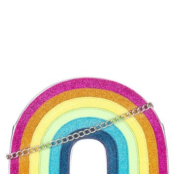 Glitter Rainbow Cross Body Bag by Skinny Dip London