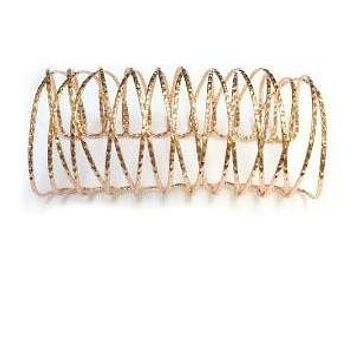 ROSE GOLD TEXTURED WOVEN WIRE CUFF BRACELET