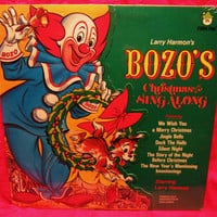 Amazing BOZO's Christmas Sing Along  1973  Vinyl Record LP 33 Sealed