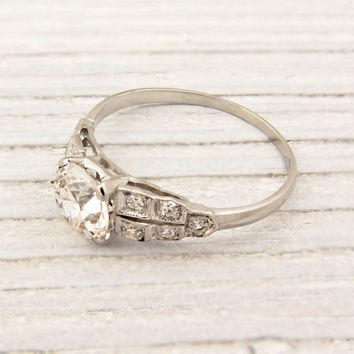 1.07 Carat Old European Cut Diamond Engagement Ring | Shop | Erstwhile Jewelry Co.