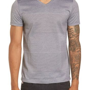 BOSS Slim Fit Stripe V-Neck T-Shirt | Nordstrom
