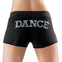 Fleece Rhinestone Dance Sweat Shorts; Urban Groove