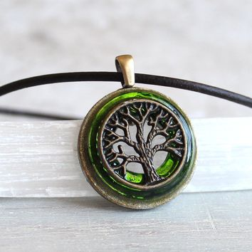 Brass tree of life necklace - available in additional colors
