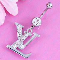 Hot Selling Letter Shaped Belly Button Ring