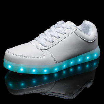 Glowing Shoes For Women Light Up Ladies Led Shoes Comfortable Girls Luminous Flats Zapatillas Deportivas Students Party shoes