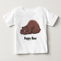 Happy Brown Bear Baby T-Shirt