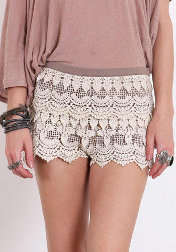 Windowpane Crochet Shorts - $36.00 : ThreadSence.com, Your Spot For Indie Clothing  Indie Urban Culture