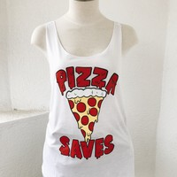 PIZZA SAVES TANK- WHT
