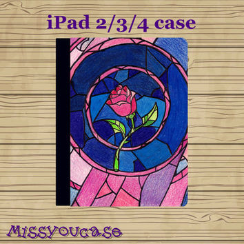 ipad 4 case,ipad 2 case,ipad 3 case,ipad leather case,cute ipad 4 case,cute ipad 3 case,cute ipad 2 case,Beauty and the beast,in leather.