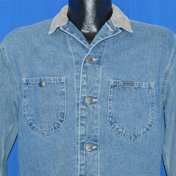 90s Lee Riveted Barn Chore Denim Jacket Medium