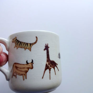 Vintage Arabia Finland China Children's Zoo Cup