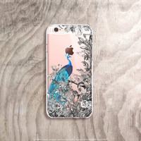 Peacock iPhone 6s Case Clear iPhone 6s Case Floral iPhone 6s Case Vintage Floral iPhone 6S Plus Case Clear Samsung Galaxy S6 Case Clear
