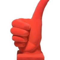 Orange Velvet Thumbs Up Hand Figurine