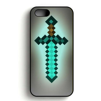 Minecraft Sword iPhone 5, iPhone 5s and iPhone 5S Gold case