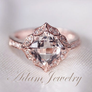 Best 14k Rose Gold Diamond Promise Rings Products on Wanelo